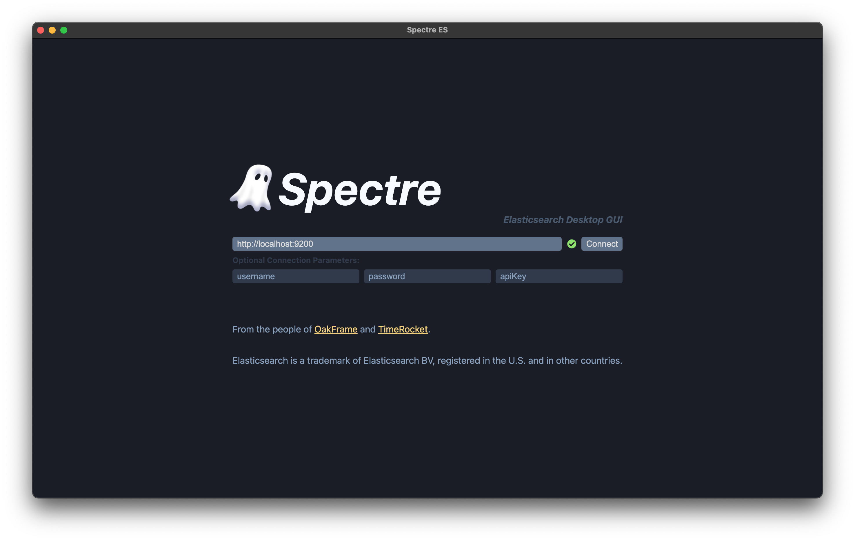 Spectre Connection to Elasticsearch Database